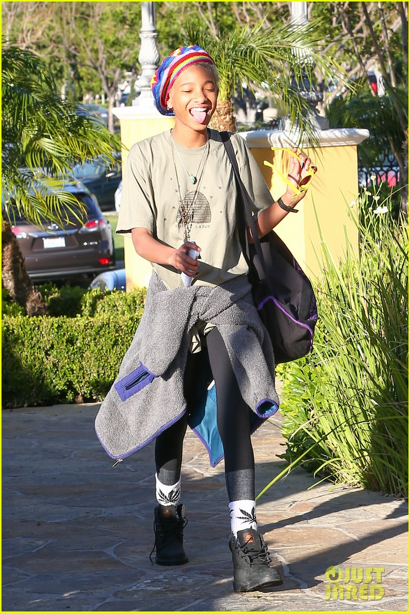 willow smith wears socks with marijuana leaf on the front 163102963