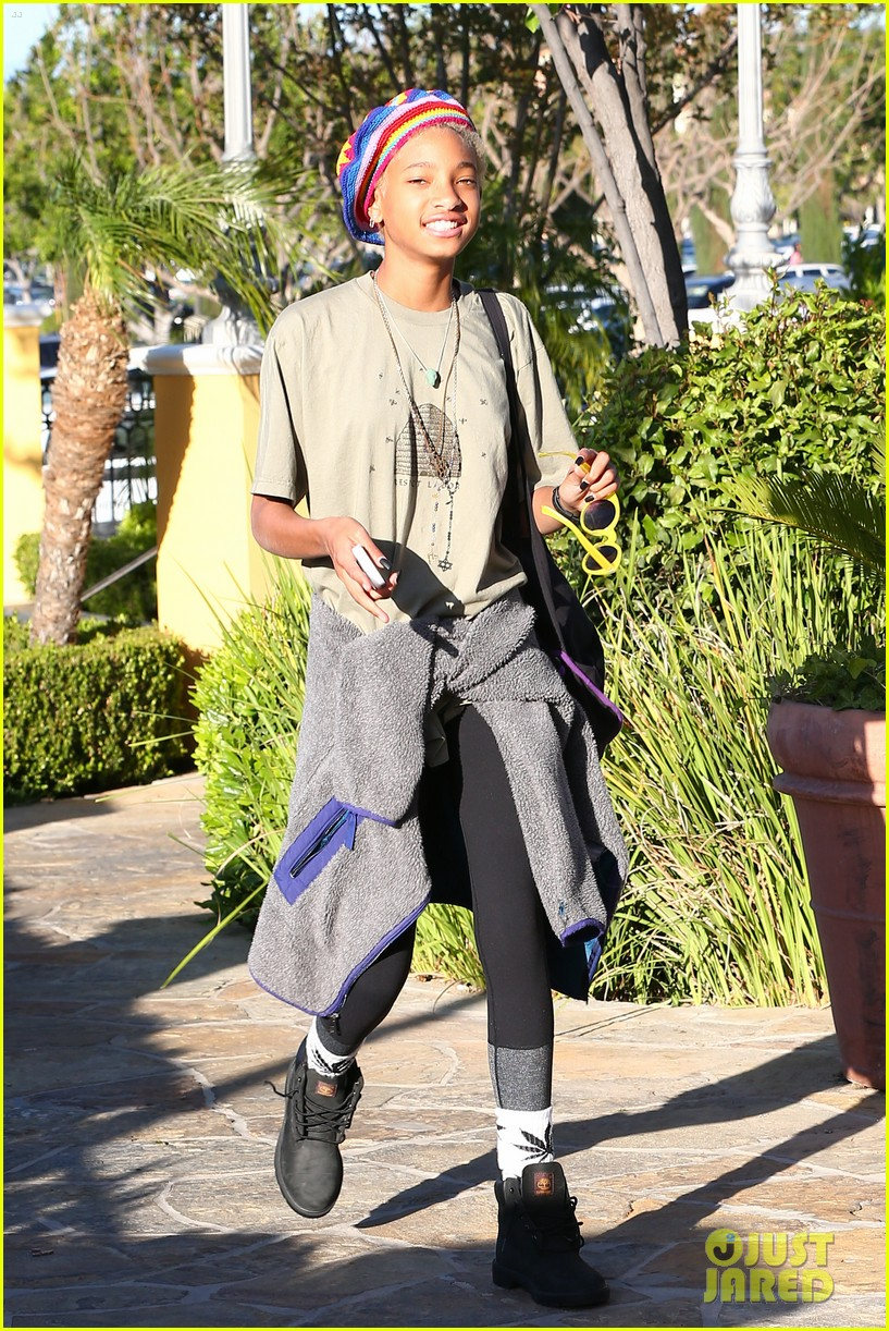 willow smith wears socks with marijuana leaf on the front 183102965