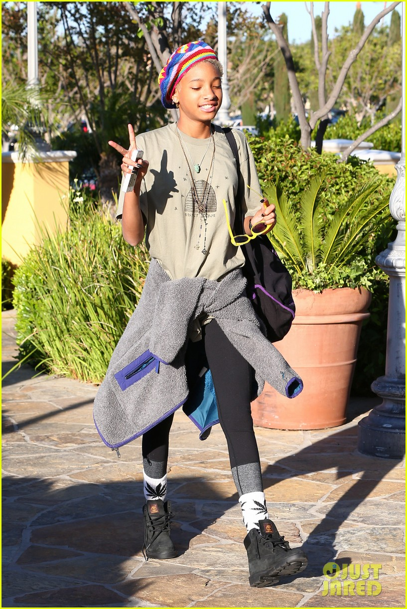 willow smith wears socks with marijuana leaf on the front 203102967