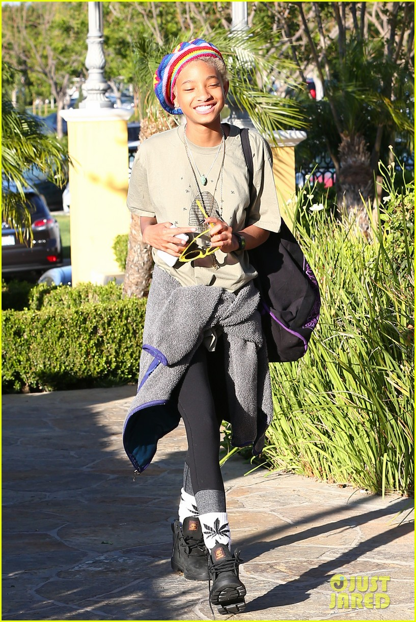 willow smith wears socks with marijuana leaf on the front 213102968