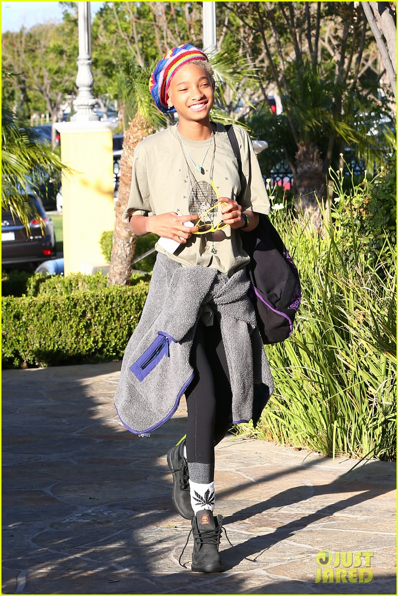 willow smith wears socks with marijuana leaf on the front 233102970