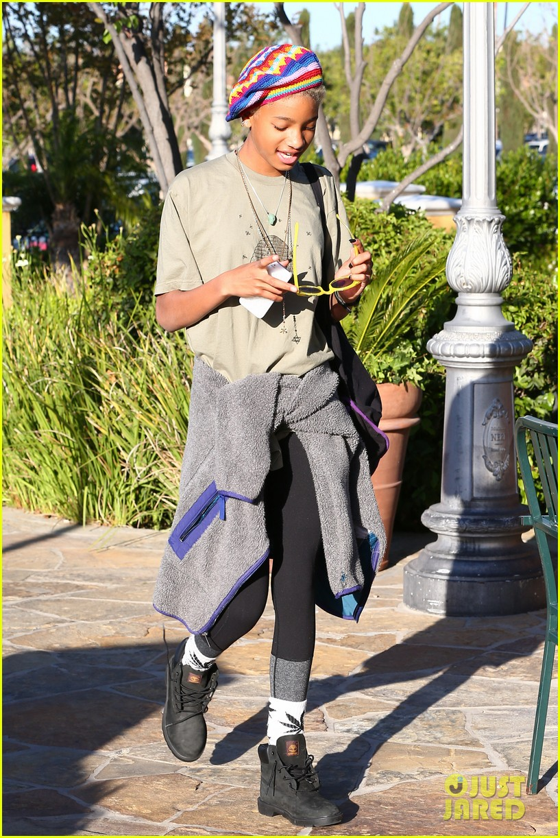 willow smith wears socks with marijuana leaf on the front 24