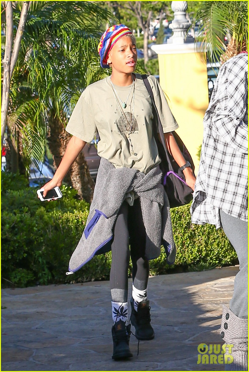 willow smith wears socks with marijuana leaf on the front 263102973