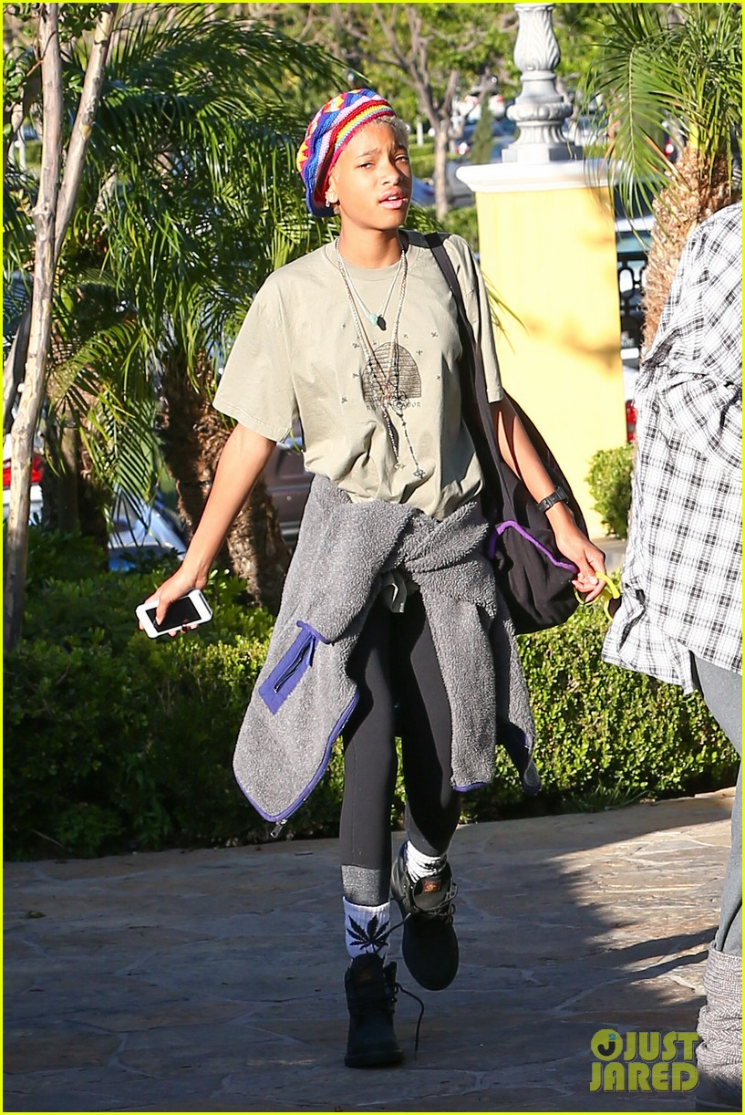 willow smith wears socks with marijuana leaf on the front 273102974