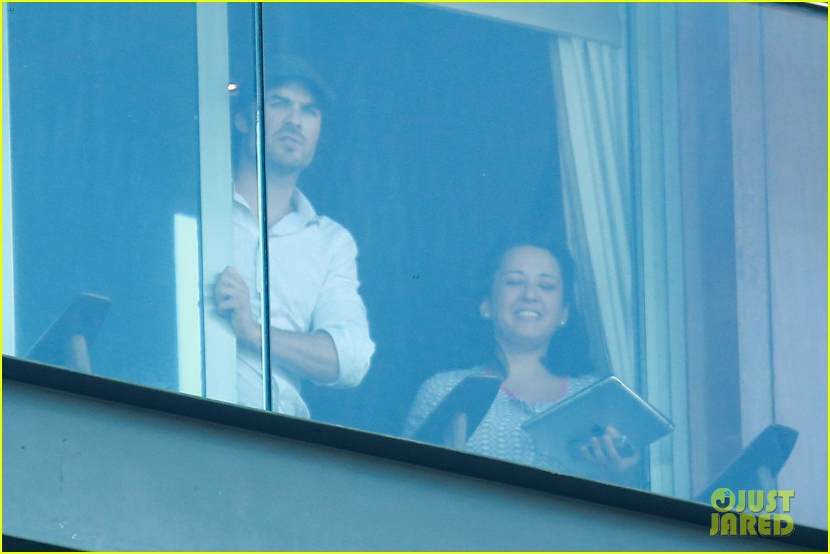 ian somerhalder blows kisses to fans from rio hotel balcony 103125054