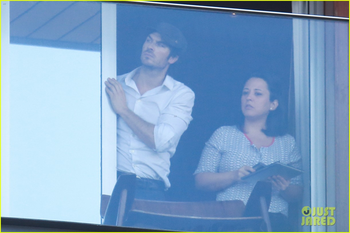 ian somerhalder blows kisses to fans from rio hotel balcony 113125055