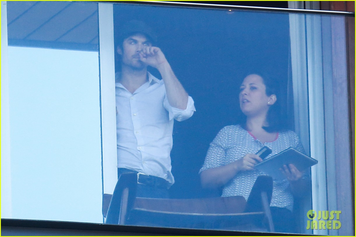 ian somerhalder blows kisses to fans from rio hotel balcony 163125060