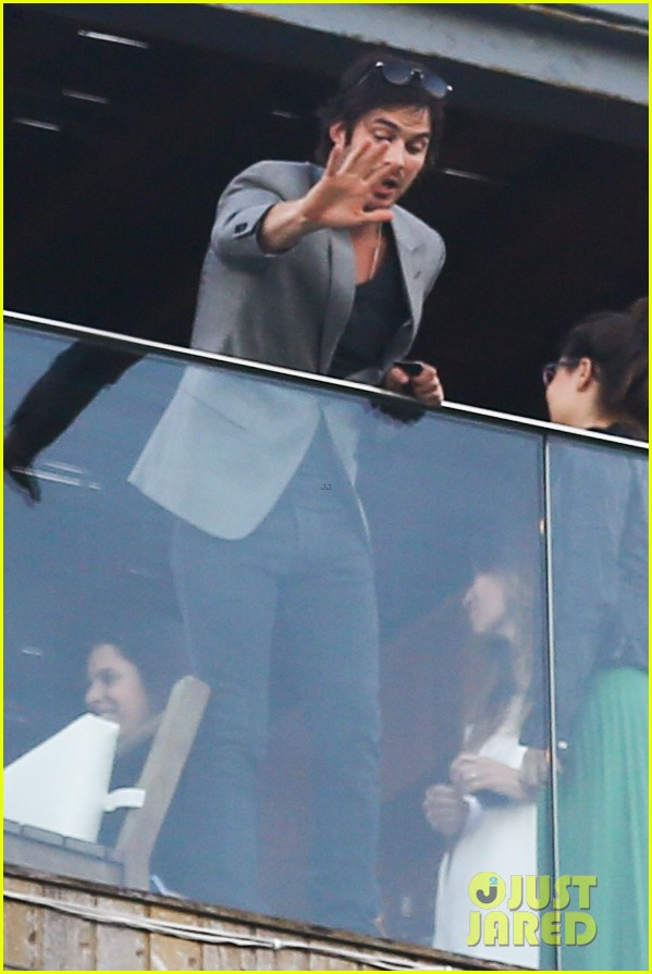 ian somerhalder blows kisses to fans from rio hotel balcony 253125069