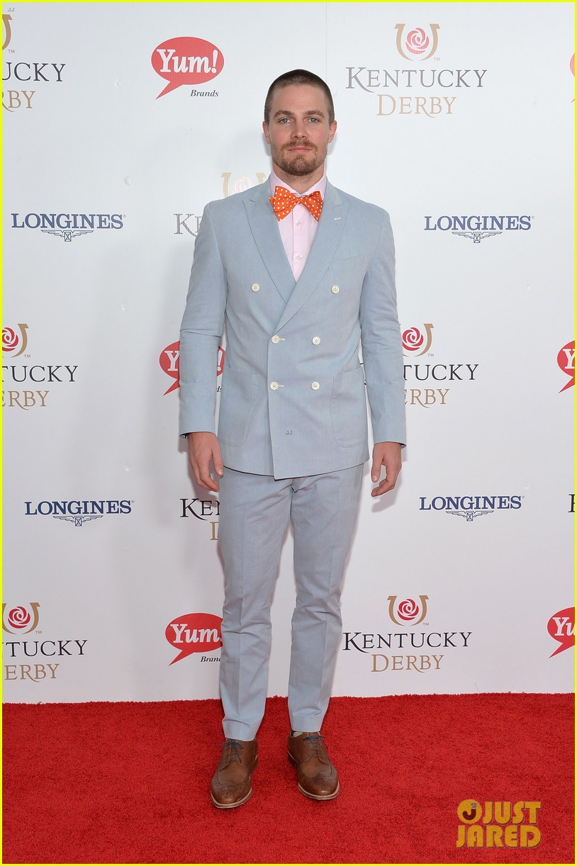 stephen amell josh henderson colorful patterns kentucky derby 143104905