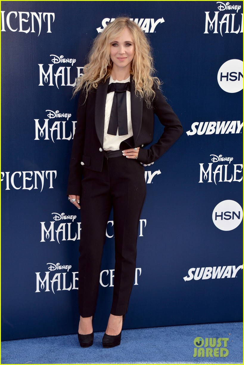 juno temple sam riley suit up for maleficent hollywood premiere 163123738