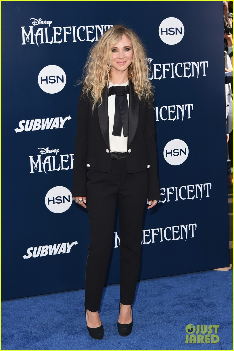 juno temple sam riley suit up for maleficent hollywood premiere 19