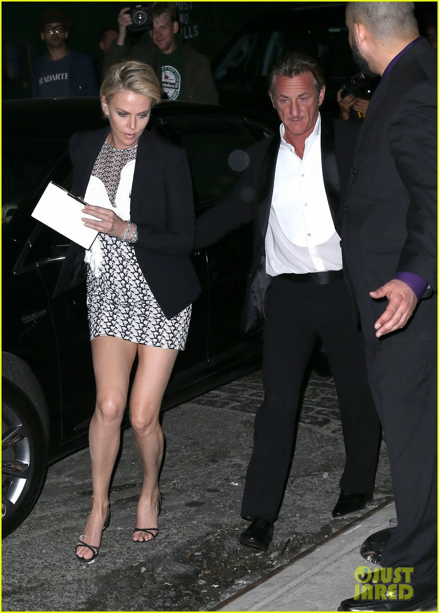 charlize theron sean penn keep the night going at met ball 2014 after party 013106806