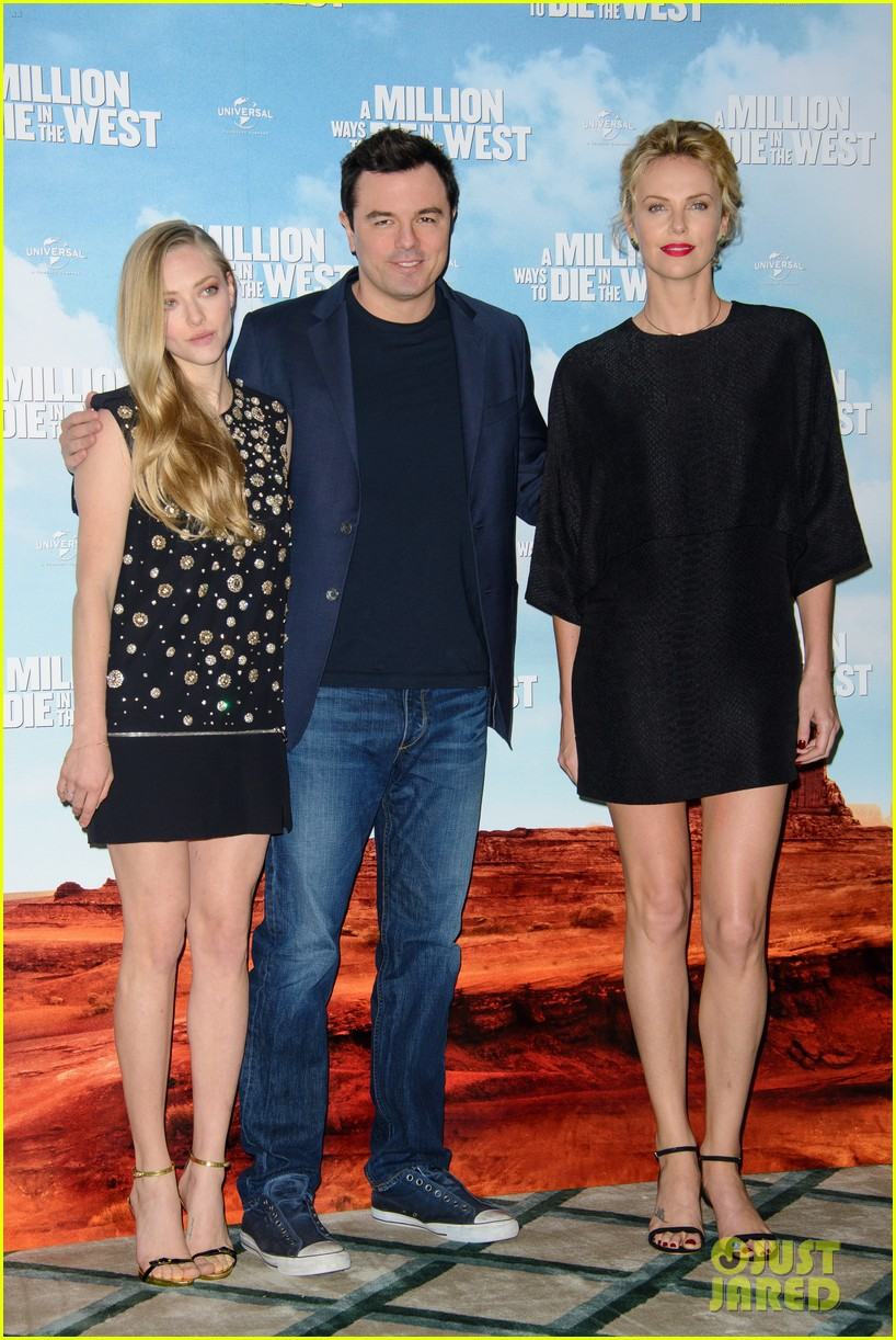 charlize theron amanda seyfried display long legs a million ways photo call 133122662