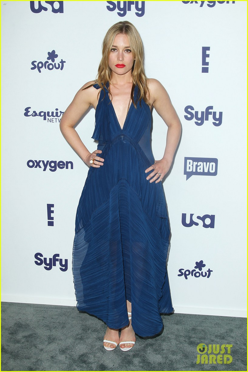 aaron tveit piper perabo usa nbcuniversal upfronts 013114676