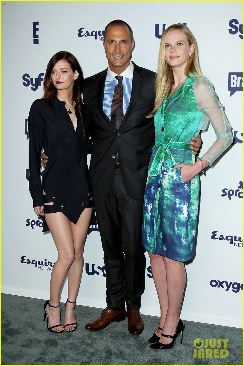 aaron tveit piper perabo usa nbcuniversal upfronts 303114705