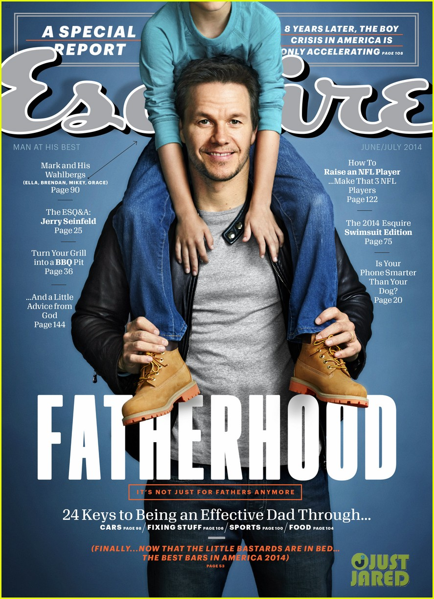 mark wahlbergs kids join him for esquire cover shoot 01