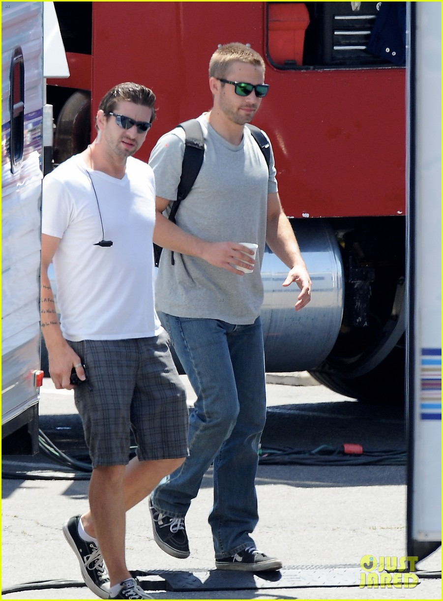 paul walker lookalike brothers spotted fast furious set 253116030