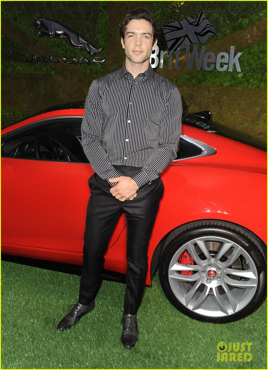 paul wesley ethan peck rev up the engines with jaguar 013104357