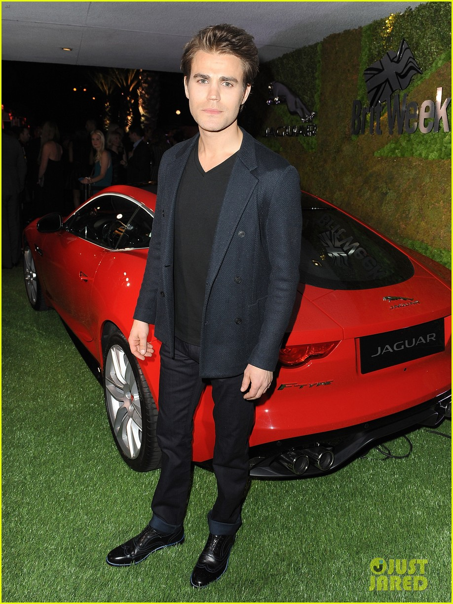 paul wesley ethan peck rev up the engines with jaguar 053104361