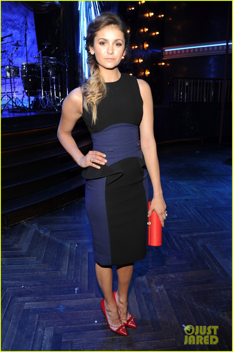 paul wesley nina dobrev cw upfront party 013115014