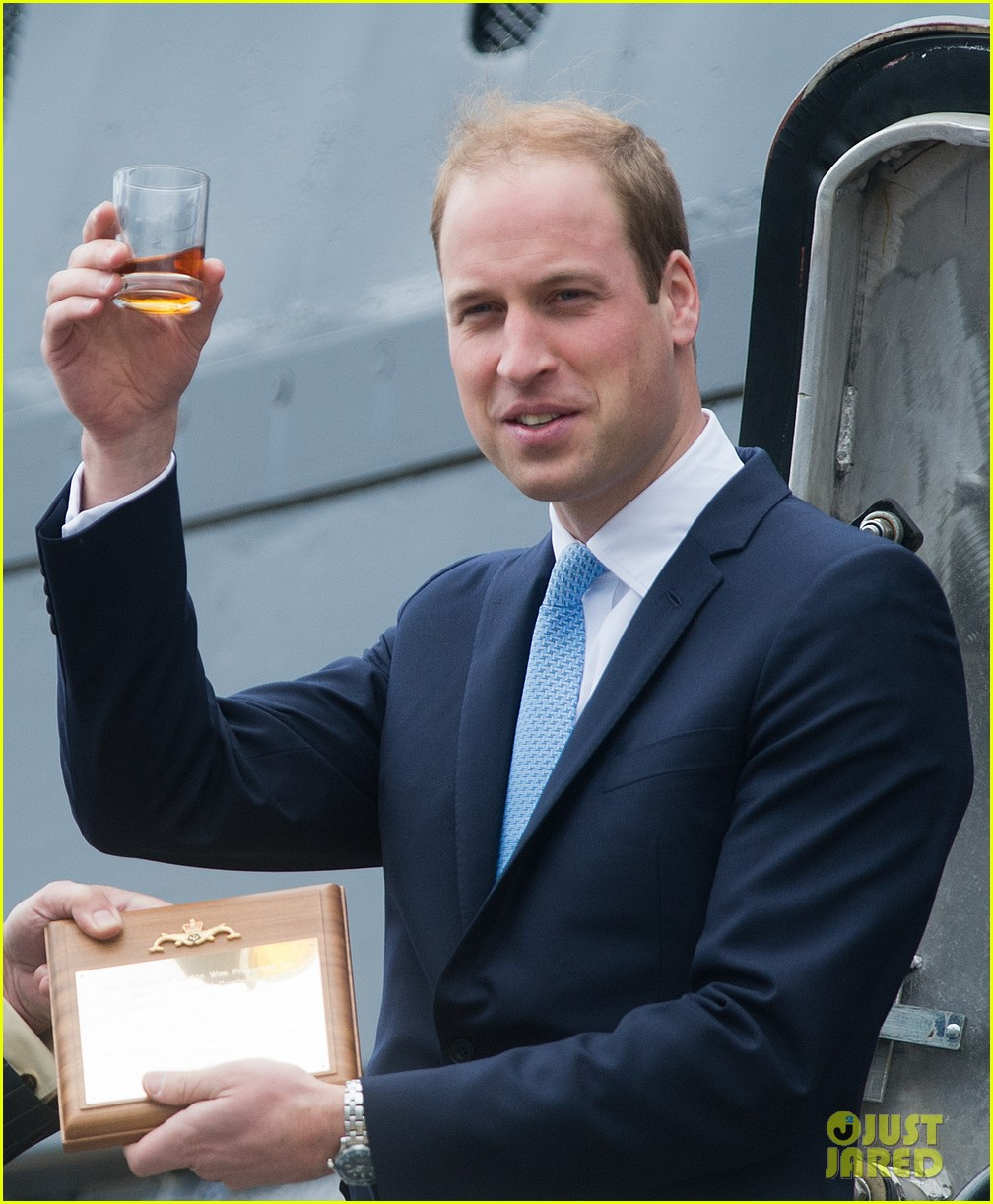 prince william knocks back scotch at royal navy museum 053111438