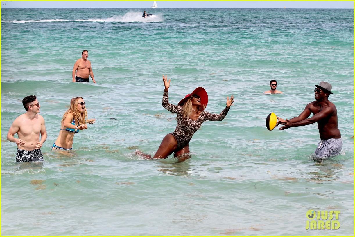 serena williams bootylicious beach caroline wozniacki 163125525