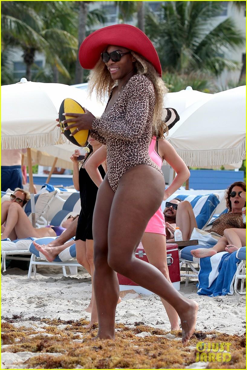 serena williams bootylicious beach caroline wozniacki 283125537