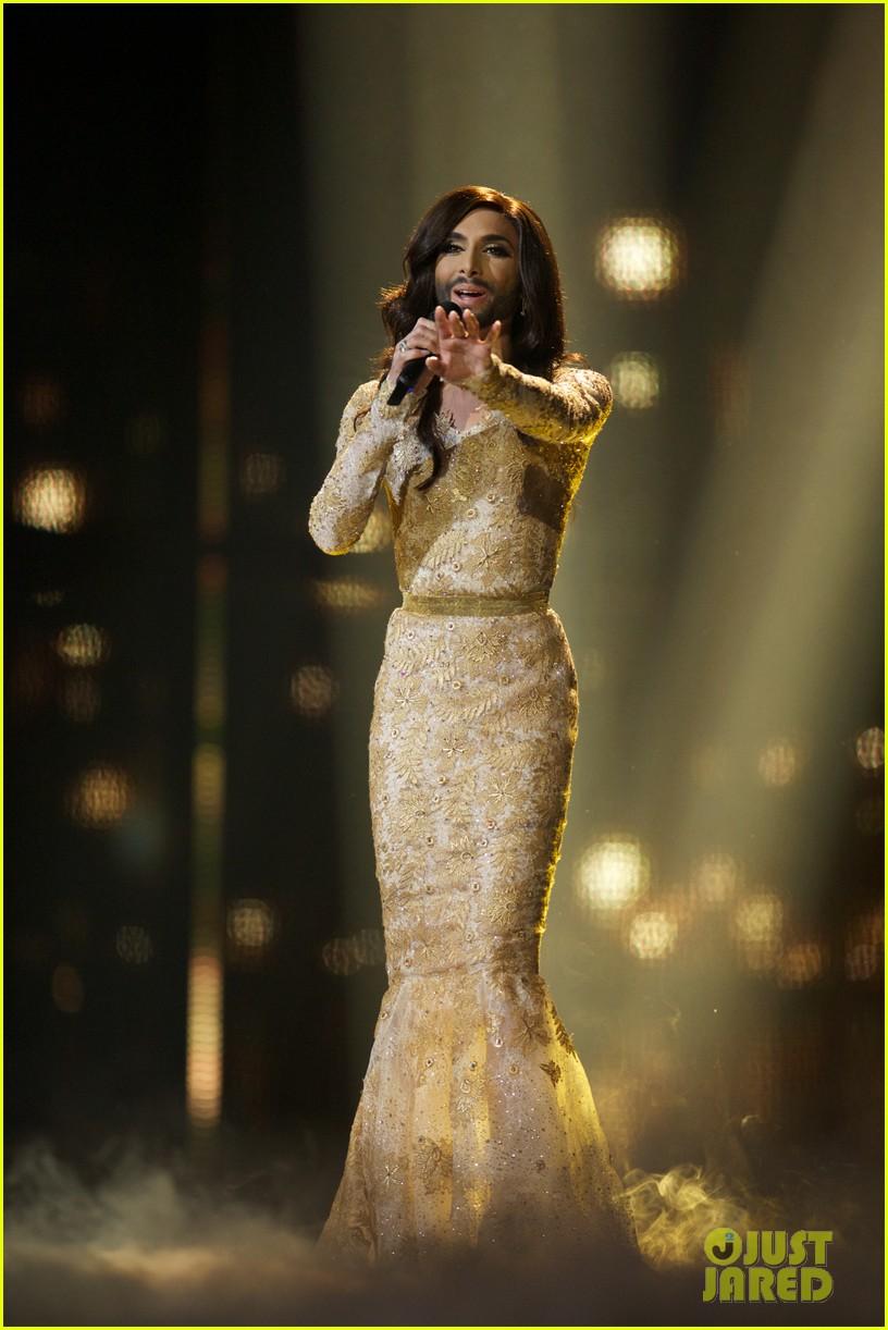 conchita wurst bearded drag queen wins eurovision 113110285