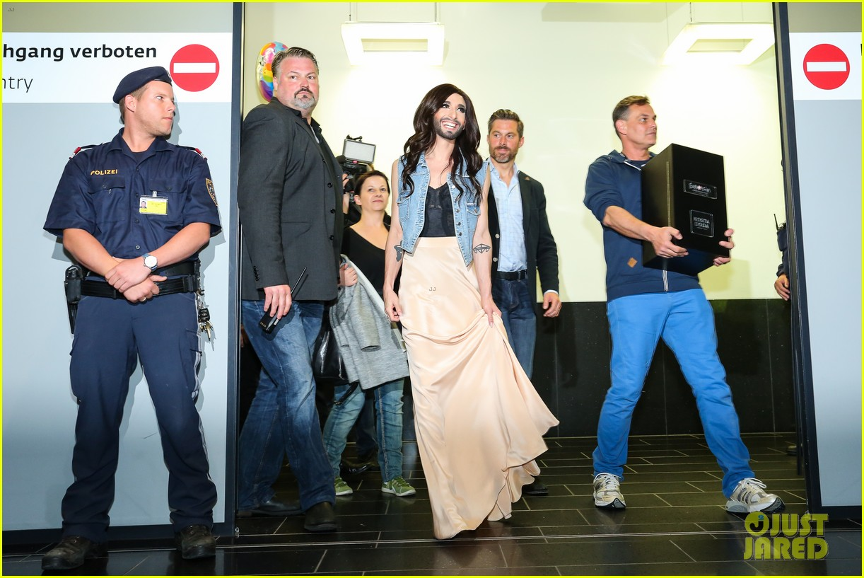 conchita wurst greeted by fans in austria after eurovision win 043111433