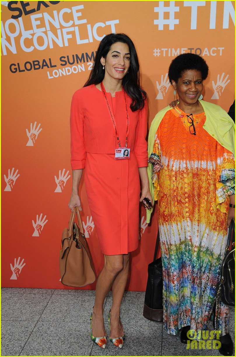 amal alamuddin brad pitt angelina jolie anti rape summit 01