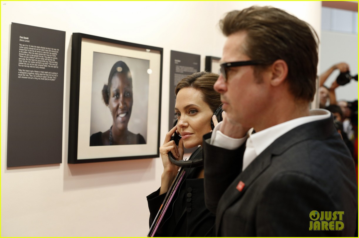 amal alamuddin brad pitt angelina jolie anti rape summit 023134101