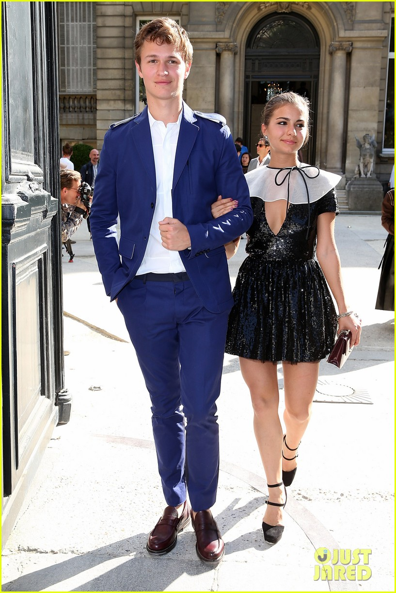ansel elgort paris fashion week girlfriend violetta komyshan 053143392