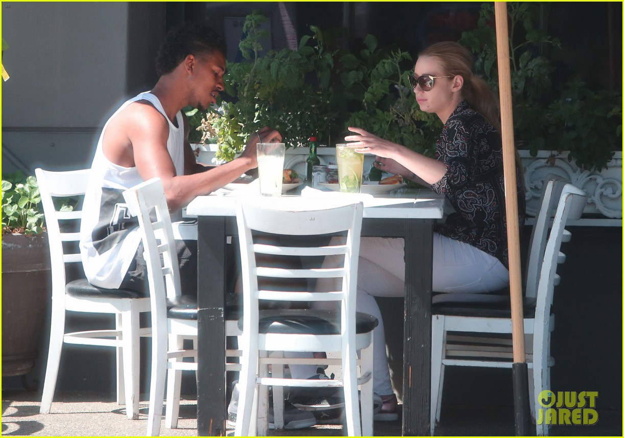iggy azalea boyfriend nick young are one cute couple lunch 083135072