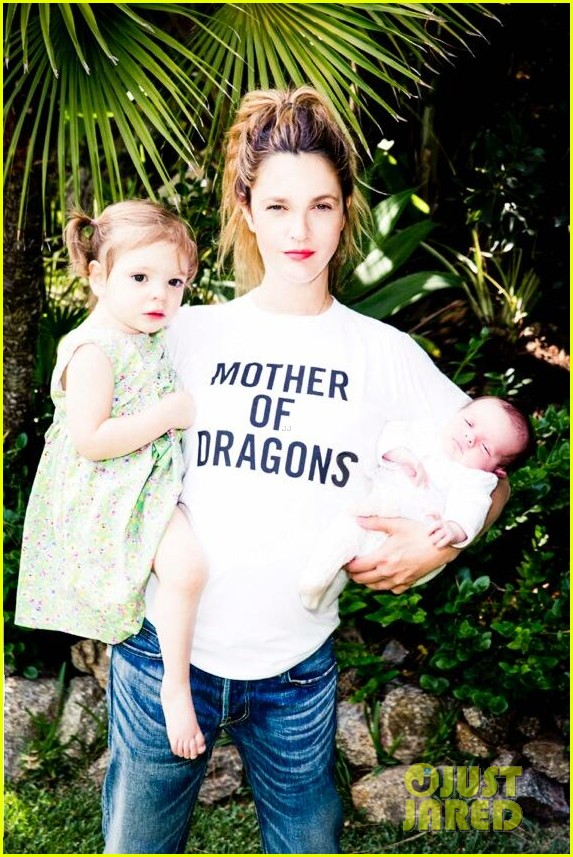 drew barrymore shares picture of daughters frankie olive 013134014