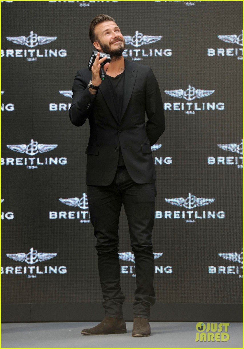 david beckham breitling press conference in beijing 01