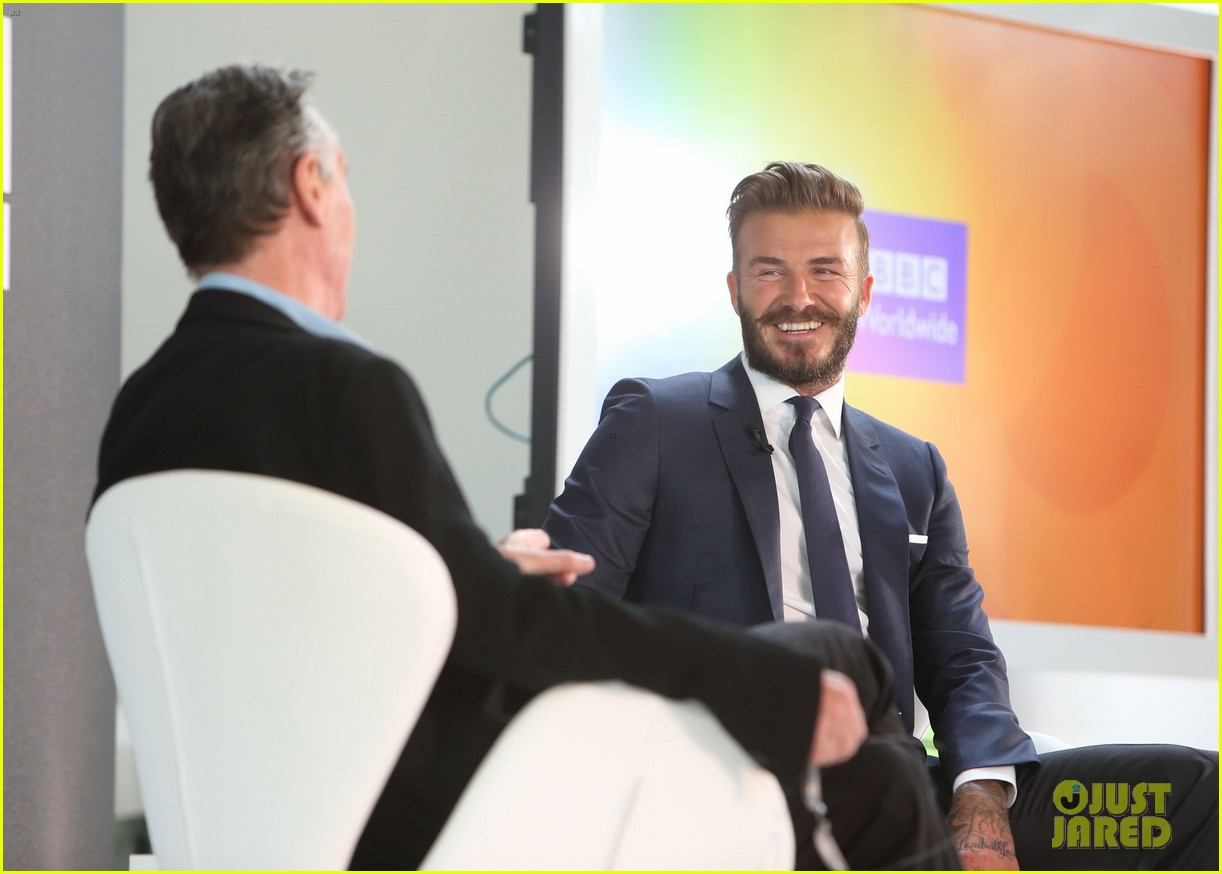 david beckham attends photo call for his documentary into the unknown 023126346