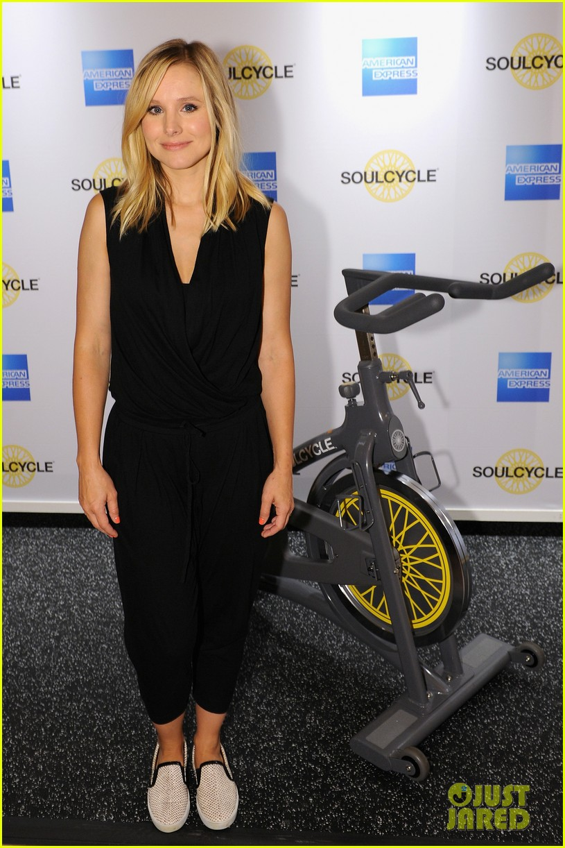kristen bell soulcycle american express events 043140163