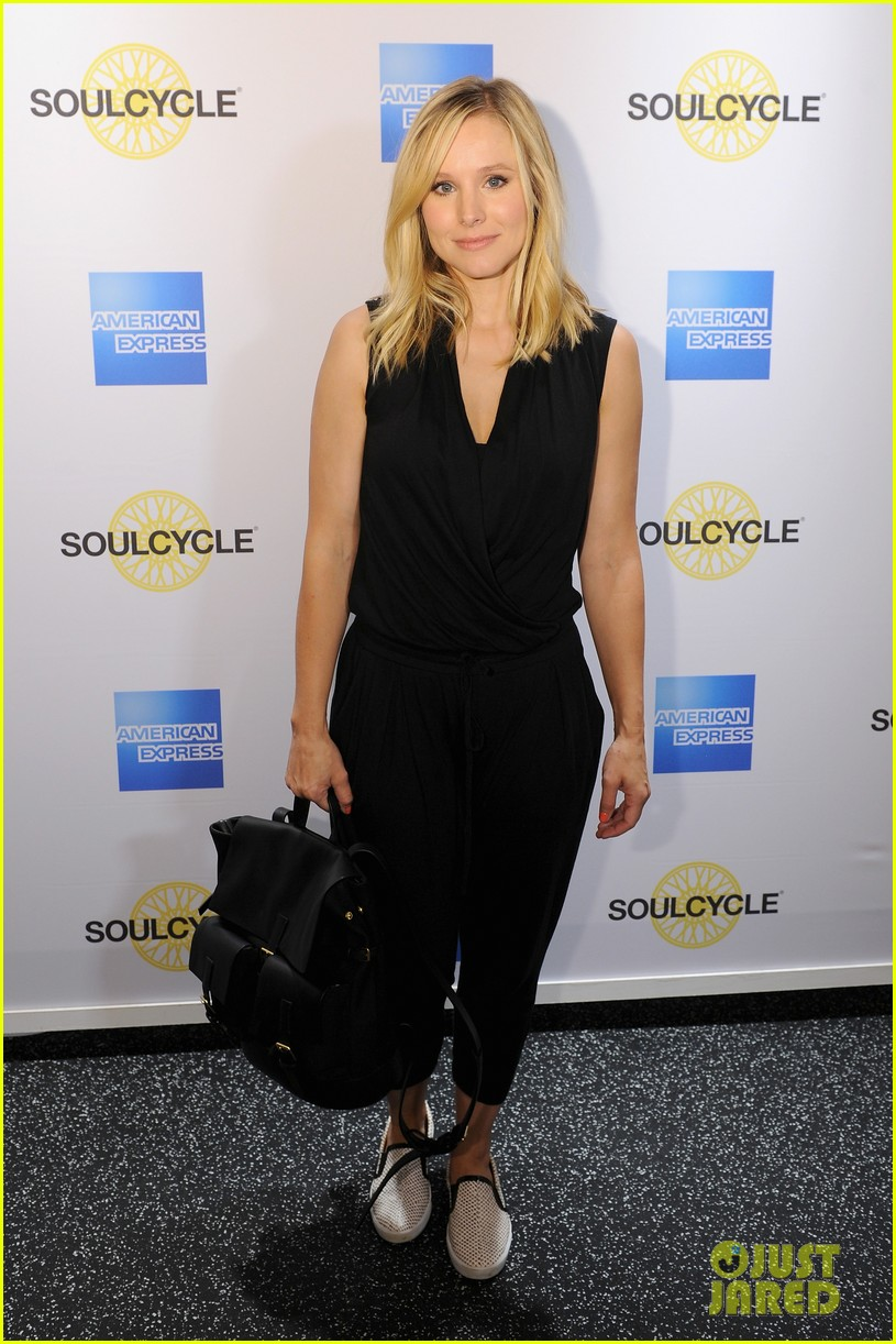 kristen bell soulcycle american express events 063140165