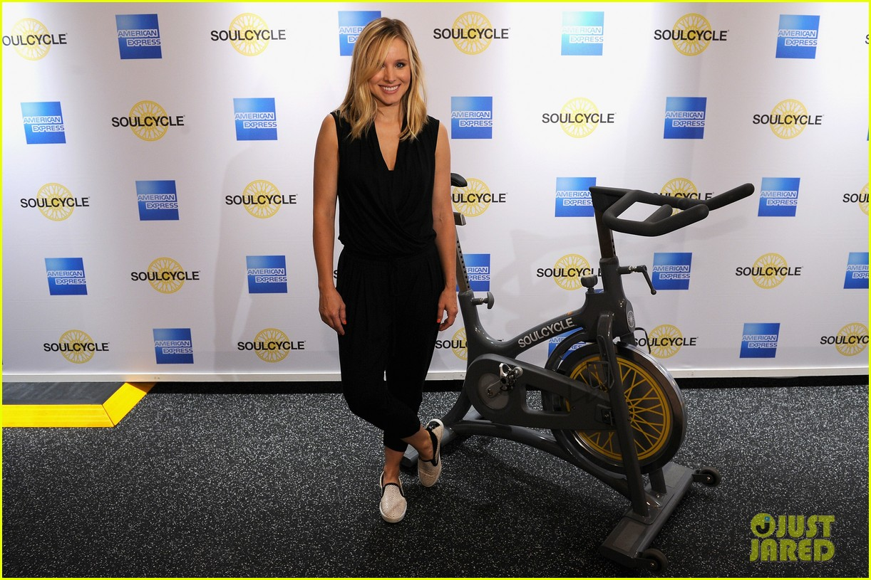 kristen bell soulcycle american express events 073140166