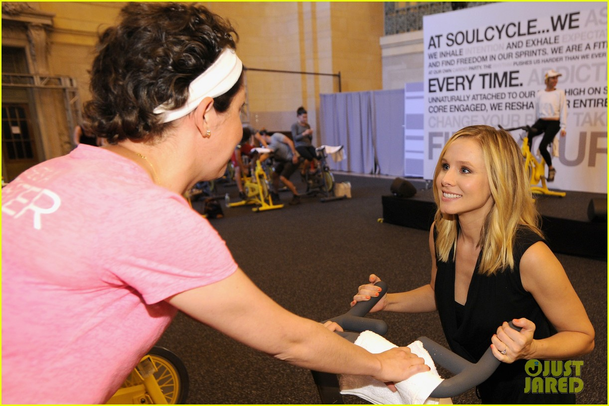 kristen bell soulcycle american express events 083140167