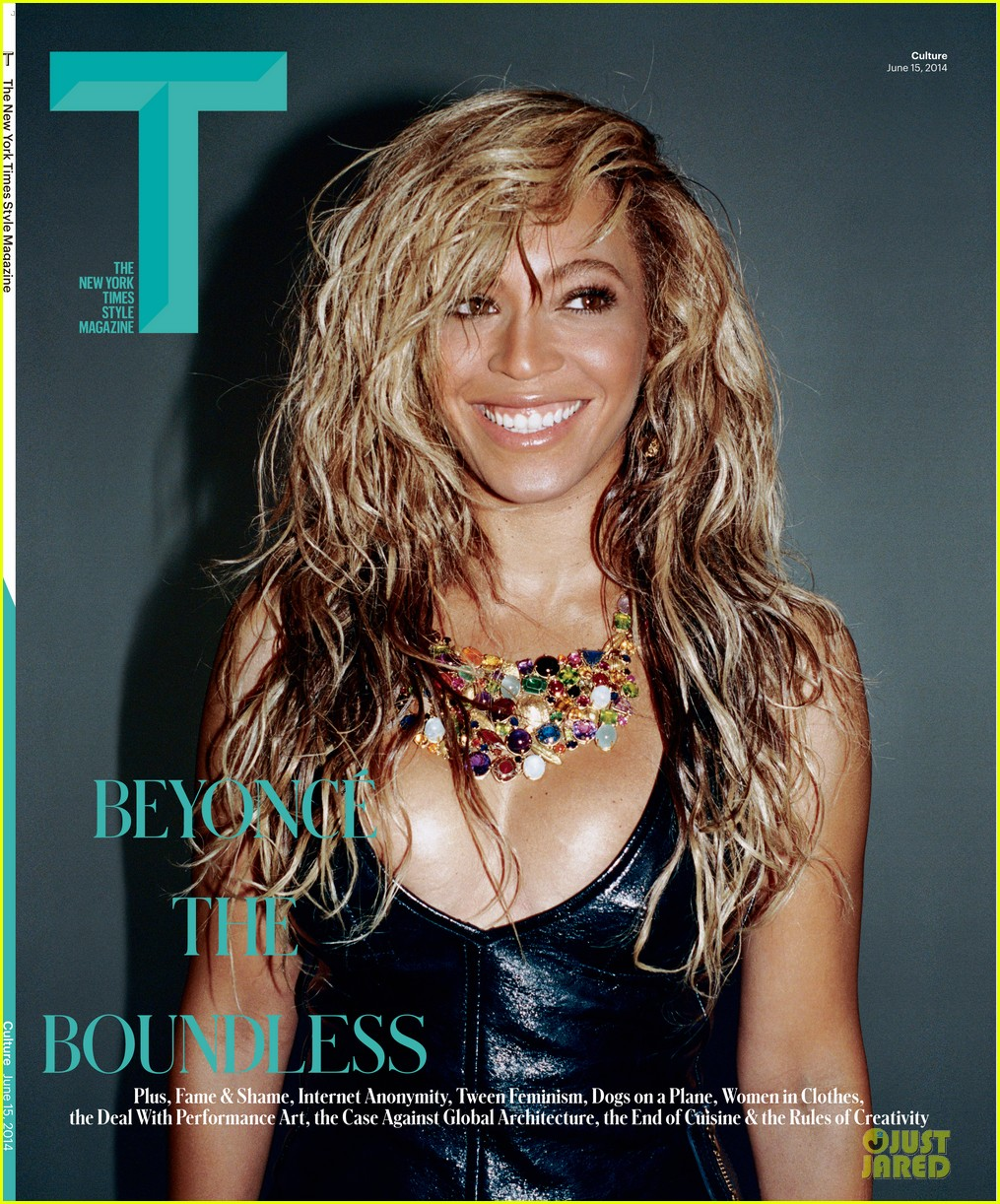 beyonce lets loose for t magazine cover 013127536