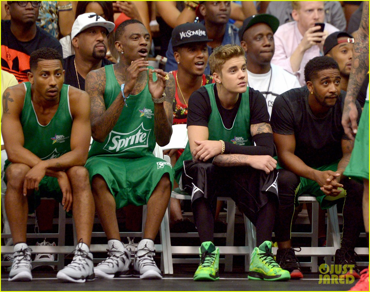 justin bieber chris brown bet celeb basketball game 26
