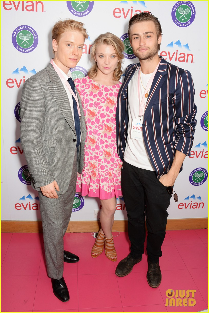 douglas booth natalie dormer lounge with evian during wimbledon 01