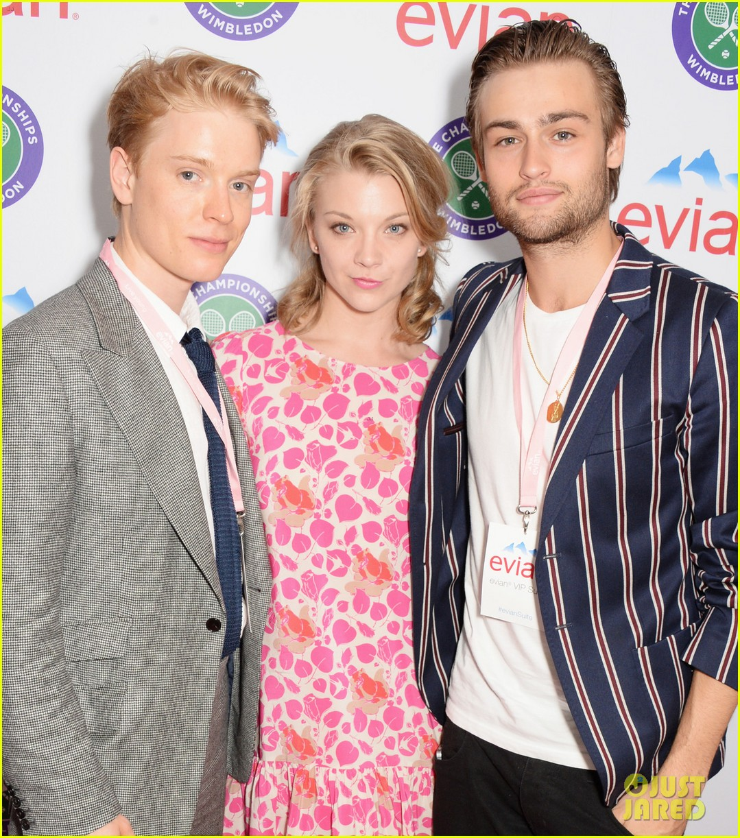 douglas booth natalie dormer lounge with evian during wimbledon 153142395