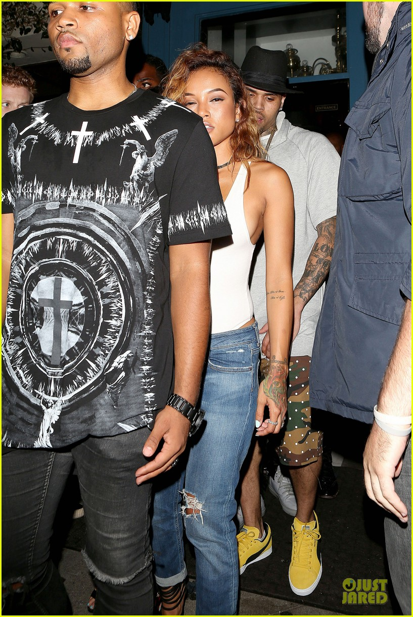 chris brown karrueche tran dance at hooray henrys 163140510