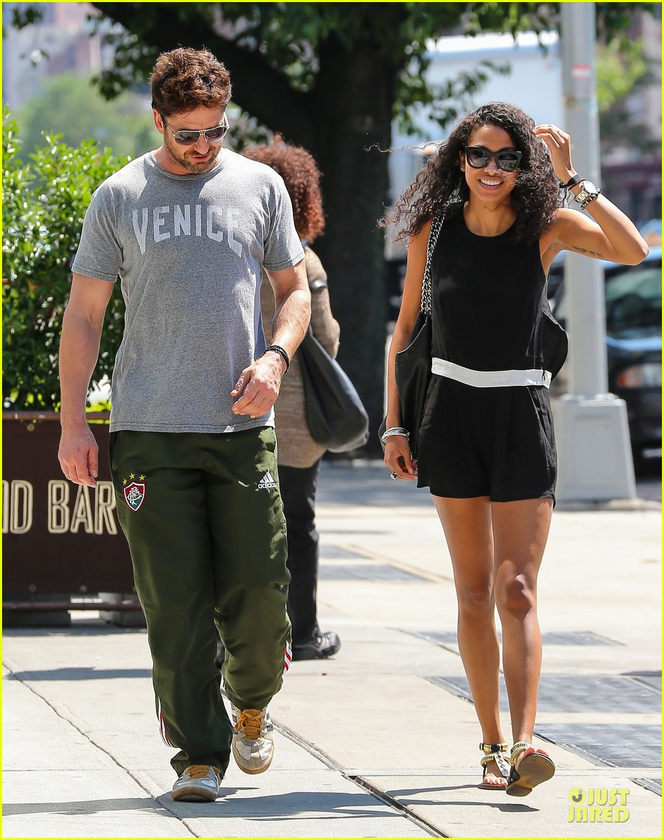gerard butler venice on stroll with mystery woman 103136754