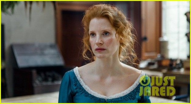 jessica chastain colin farrel share passionate kiss for miss julie 043129865