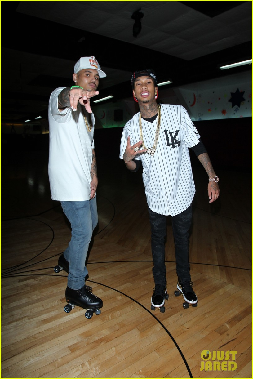 chris brown drake step out before bet awards 2014 053145937
