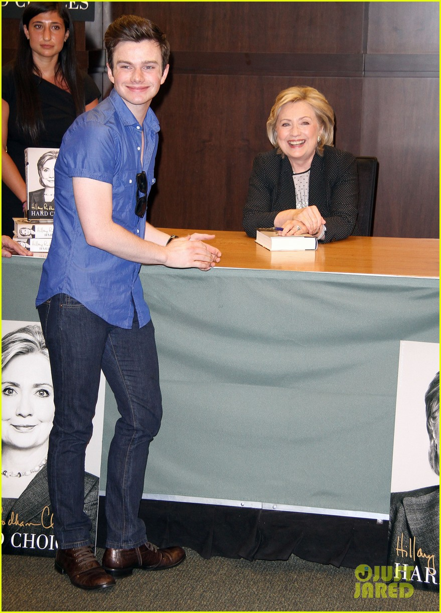 chris colfer hilary clinton book signing 01