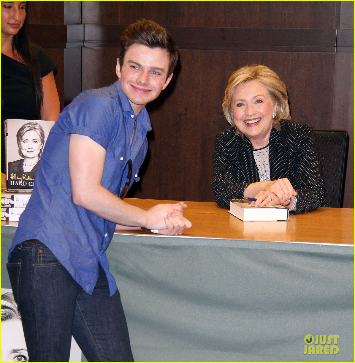 chris colfer hilary clinton book signing 043139260